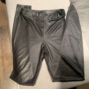 Faux Leather Leggings XS